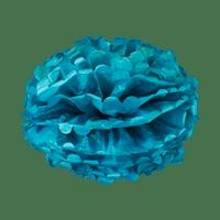 Pompons Bleu Pétrole 40cm x2
