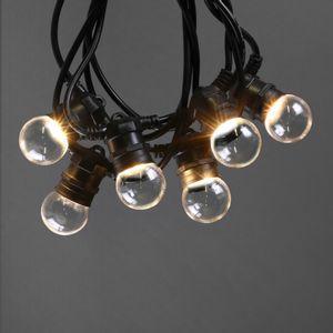 Guirlande Guinguette Transparente Ampoules Remplaçables 10 m IP65
