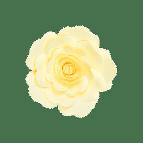 Fleur En Papier Rose Jaune Pâle 20 cm