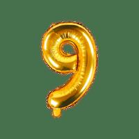 Ballon Chiffre 9 Latex Or
