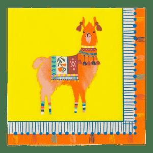 Serviette Papier Inca Jaune x20