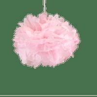 Decoration Pour Mariage, Fête, Anniversaire Pompons Rose Pâle 30Cm (Lot De 6 Pièces)