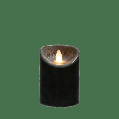 Bougie Led Flamme Vacillante Noir 14,5 cm