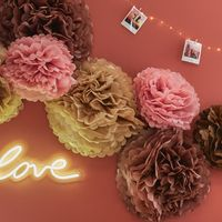 Pompons Rose Blush 50cm x2