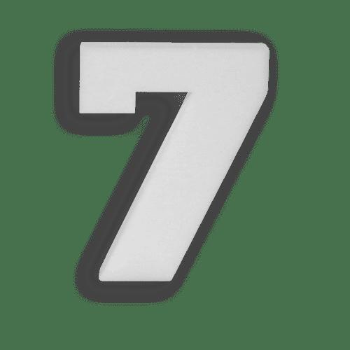 Chiffre 7 en Polystyrène 20cm