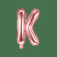 Ballon Lettre K Latex Rose Gold