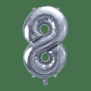 Ballon Chiffre 8 Argent 90 cm