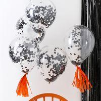 Ballon Confettis Noirs x5