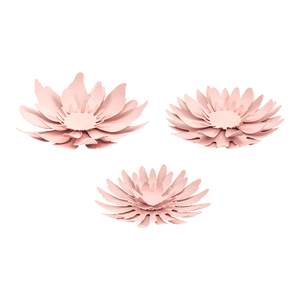 Fleurs Papier Marguerite Centre de Table Rose Pâle x3