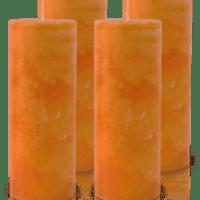 Pack de 4 Bougies Marbrées Orange 18x7cm
