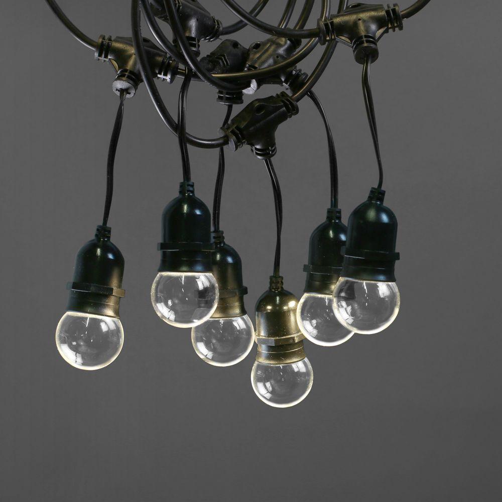 Guirlande Guinguette Pendante Ampoules Remplaçables Transparentes 10 m