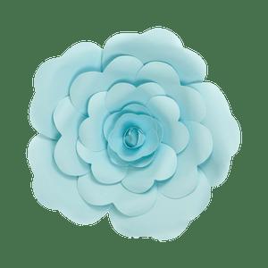 Fleur En Papier Rose Turquoise 30 cm