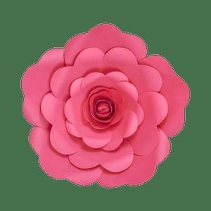 Fleur En Papier Rose Fuchsia 30 cm