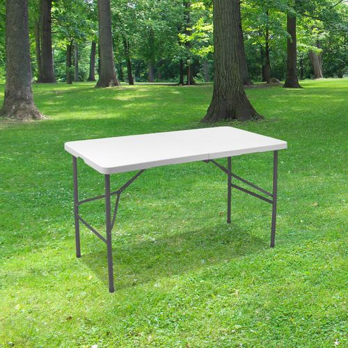 Table Pliante 120x60 cm Blanc