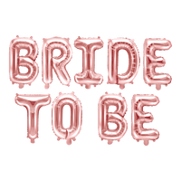Ballons Bride To Be Aluminium Rose gold x9