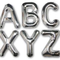 Ballon Lettre B Argent 90 cm