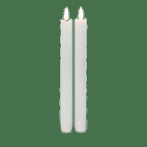 Chandelle Led Ivoire Flamme Réaliste x2