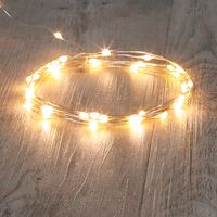 Guirlande Micro LED 4M Argent 40 LEDs Blanc Chaud