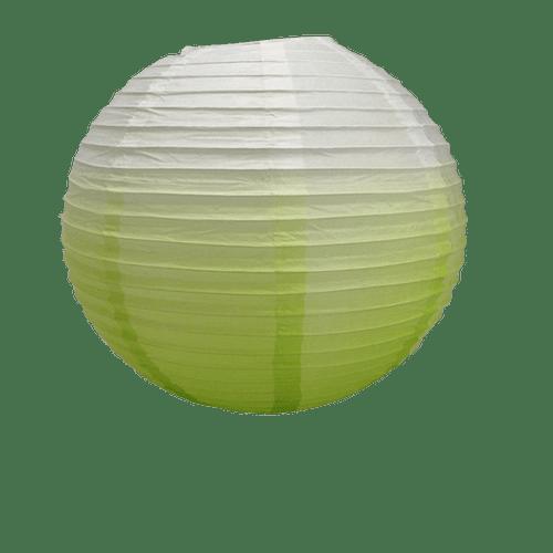 Décoration De Mariage, Fête, Anniversaire Boule Papier 40Cm Dégradé Vert (Lot De 3 Pièces)