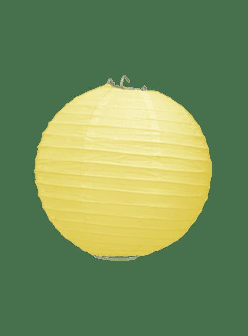 Boule Papier Jaune Pale 20 cm x10