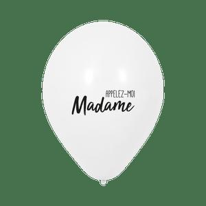 """Ballon Mariage """"Appelez-moi Madame"""" Blanc"""