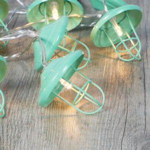 Guirlande Lumineuse Lanternes Métal Vert