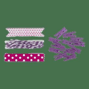 Set Etiquettes et Pinces Violet