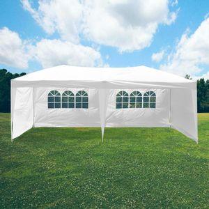 Tente Pliable 3x6m imperméable 160 g/m2 Blanche + 6 Parois