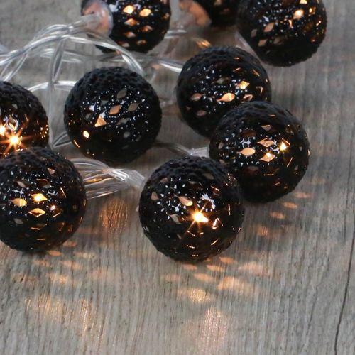 Guirlande Lumineuse Boules Marocaines Noir