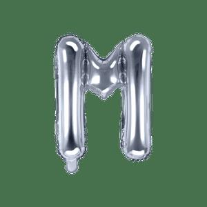 Ballon Lettre M Argent 35 cm