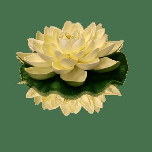 Lanterne Flottante Mariage, Fête, Anniversaire Lotus Natural Blanche (Lot De 3 Pièces)
