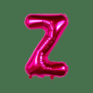 Ballon Lettre Z Fuchsia 35 cm