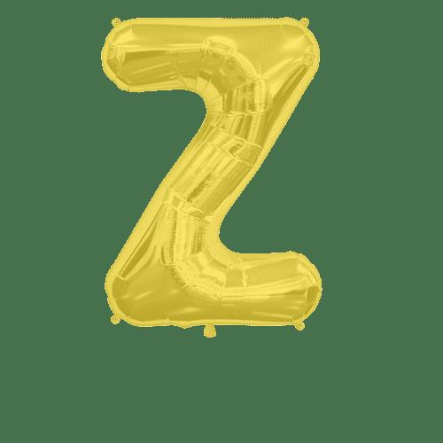 Ballon Lettre Z Or 90 cm