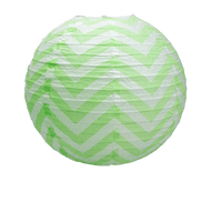 Déco Pour Soirée Mariage & Fête, Anniversaire, Fête Boule Papier 40Cm Chevron Vert (Lot De 3 Pièces)