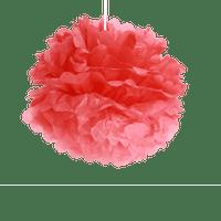 Déco Soirée Mariage & Fête, Anniversaire, Fête Pompons Rouge 40Cm (Lot De 6 Pièces)