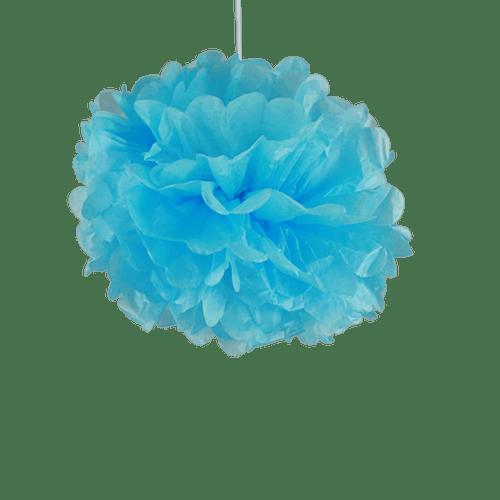 Deco Soirée Mariage & Fête, Anniversaire, Fête Pompons Turquoise 30 Cm (Lot De 6 Pièces)