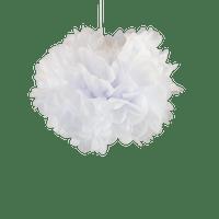 Déco Mariage & Fête Pompons Blanc 30Cm (Lot De 6 Pièces)