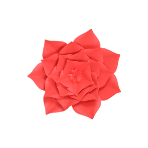 Fleur En Papier Gardénia Rouge 30 cm