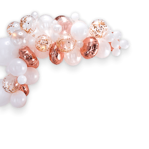 Arche De Ballon Rose gold x70