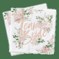 Serviette Papier Team Bride Rose gold et Blanc x16