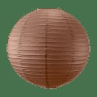 Boule papier 50cm Chocolat