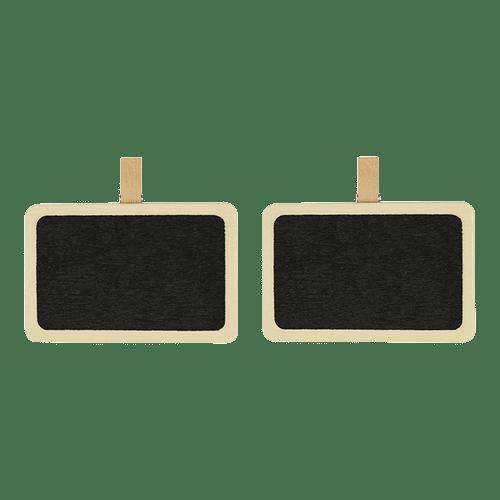 Tableau Ardoise + pince Bois Noir x2
