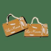 Deco Chaise Mariage Kraft La Mariée & Le Marié Boho x2