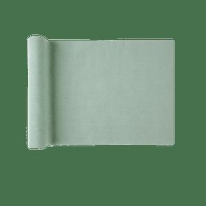 Chemin De Table Coton Vert Sauge 3 m