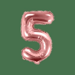 Ballon Chiffre 5 Argent 35cm