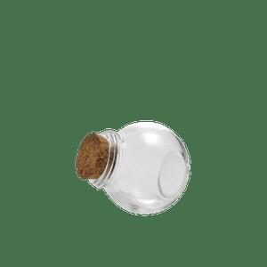Bocal En Verre bouchon liège Transparent 60 ml