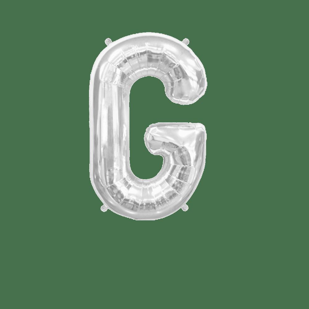 Ballon Lettre G Argent 35 cm