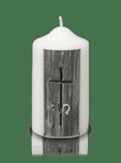 Bougie Pilier Croix Cire Croix Blanc et Noir