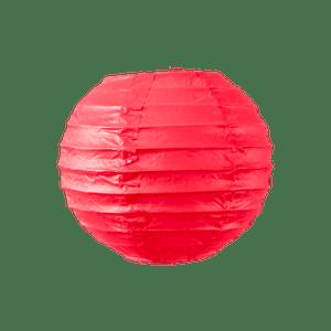 Boule papier 10cm Rouge