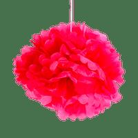 Pompons Fuchsia 40cm x2